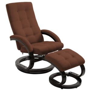 VidaXL Recliner Chair with Footrest Brown Suede-touch Fabric