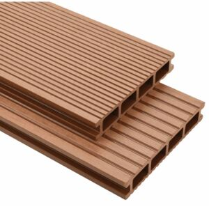 WPC Decking Boards with Accessories 10 m² 2.2 m Brown