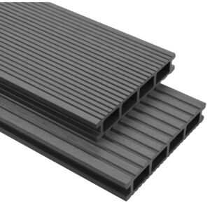 WPC Decking Boards with Accessories 10 m² 2.2 m Grey