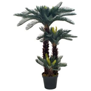 Artificial Plant Cycas Palm with Pot Green 125 cm