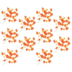 Artificial Leaves Ivy 10 pcs Red 70 cm