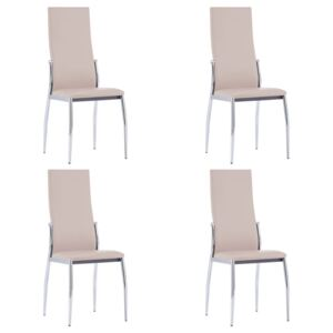 VidaXL Dining Chairs 4 pcs Cappuccino Faux Leather