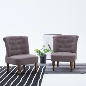 French Chair Taupe Fabric