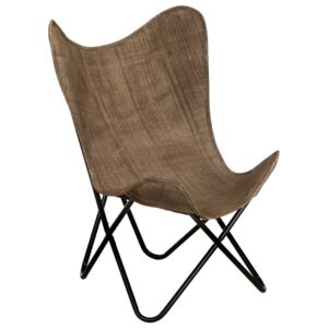 VidaXL Butterfly Chair Taupe Canvas