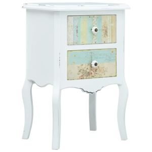 VidaXL Bedside Cabinet White and Brown 43x32x65 cm MDF