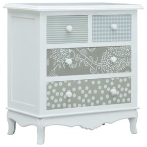VidaXL Sideboard with 4 Drawers White and Grey 65.5x35x68 cm MDF