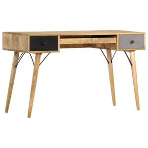 Desk with Drawers 130x50x80 cm Solid Mango Wood