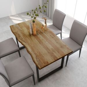 Dining Table 160x80x76 cm Solid Acacia Wood