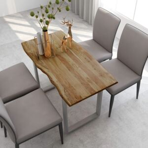 Dining Table 118x58x76 cm Solid Acacia Wood