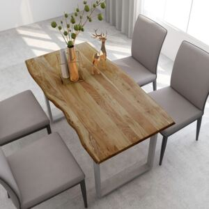Dining Table 140x70x76 cm Solid Acacia Wood