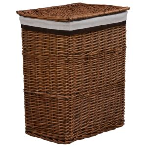 Stackable Laundry Basket Brown Willow