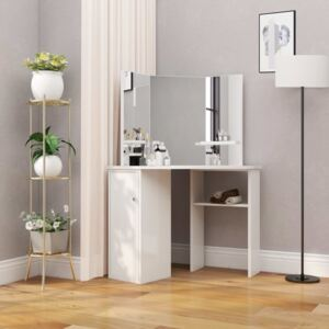 Corner Dressing Table Cosmetic Table Make-up Table White
