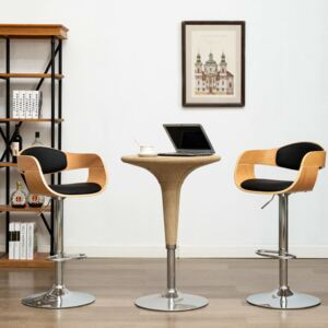 VidaXL Bar Chairs 2 pcs Black Bent Wood and Faux Leather