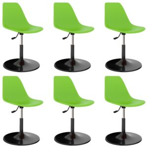 Swivel Dining Chairs 6 pcs Green PP