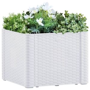 VidaXL Garden Raised Bed with Self Watering System White 43x43x33 cm