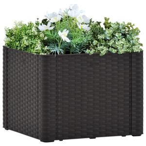 VidaXL Garden Raised Bed with Self Watering System Anthracite 43x43x33 cm