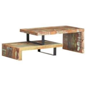 2 Piece Coffee Table Set Solid Reclaimed Wood