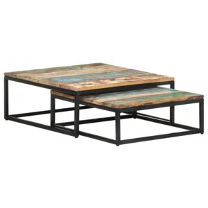 Nesting Coffee Tables 2 pcs Solid Reclaimed Wood
