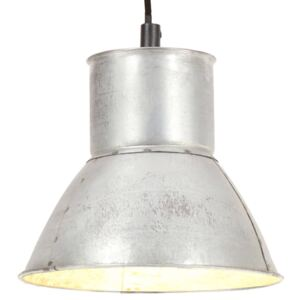 Hanging Lamp 25 W Silver Round 17 cm E27