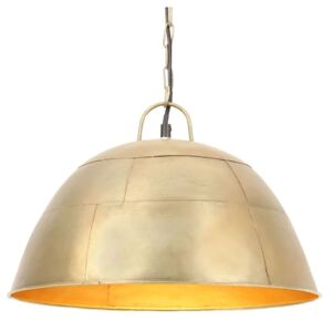 Industrial Vintage Hanging Lamp 25 W Brass Round 41 cm E27