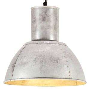 Hanging Lamp 25 W Silver Round 28.5 cm E27