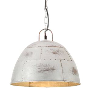 Industrial Vintage Hanging Lamp 25 W Silver Round 31 cm E27