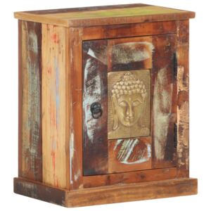 Bedside Cabinet with Buddha Cladding 40x30x50 cm Reclaimed Wood