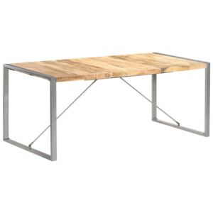 Dining Table 180x90x75 cm Solid Rough Mango Wood
