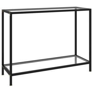 Console Table Transparent 100x35x75 cm Tempered Glass