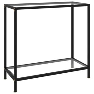 Console Table Transparent 80x35x75 cm Tempered Glass