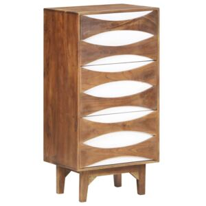 Chest of Drawers 44x35x90 cm Solid Acacia Wood