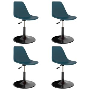 Swivel Dining Chairs 4 pcs Turquoise PP