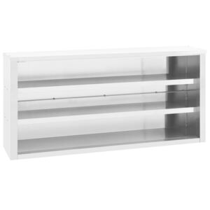 Kitchen Wall Cabinet 150x40x75 cm Stainless Steel
