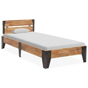 Bed Frame Solid Acacia Wood with Brushed Finish 90x200 cm