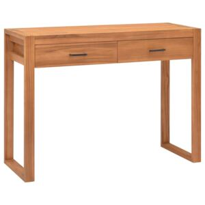 Desk with 2 Drawers 100x40x75 cm Recycled Teak Wood