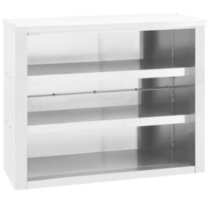 Kitchen Wall Cabinet 90x40x75 cm Stainless Steel