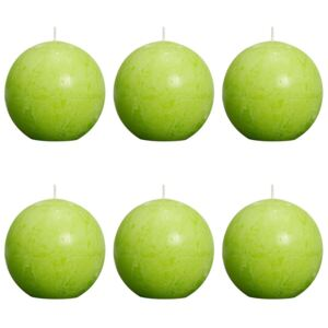 Bolsius Rustic Ball Candle 80 mm Lime 6 pcs