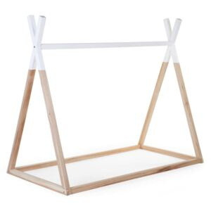 CHILDHOME Tipi Bed Frame 70x140 cm Wood Natural and White B140TIPI