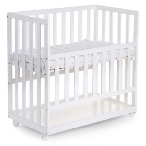 CHILDHOME Bedside Crib 50x90 cm Beech White BSCNWI