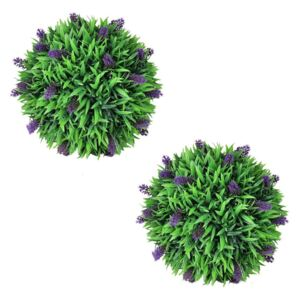 VidaXL Set of 2 Artificial Boxwood Ball with Lavender 30 cm