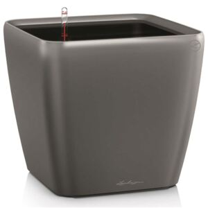 LECHUZA Planter Quadro 28 LS ALL-IN-ONE Charcoal 16143