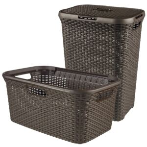 Curver Style Hamper and Laundry Basket Brown 105 L 240684