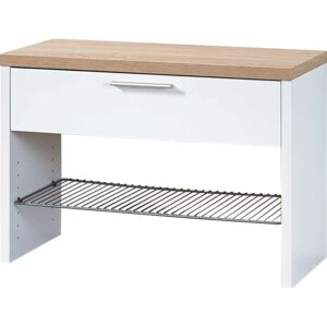 Germania Shoe Bench Top White and Sonoma Oak 3192-178