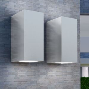 Outdoor LED Wall Lights 2 pcs Square Up/Downwards