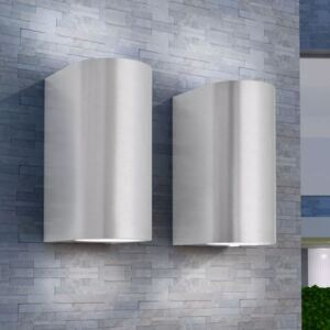 Outdoor LED Wall Lights 2 pcs Round Up/Downwards