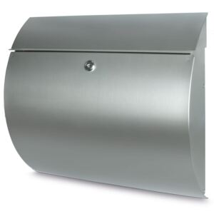 BURG-WÄCHTER Letterbox Toscana 3856 Ni Stainless Steel Silver