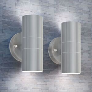 VidaXL Outdoor LED Wall Lights 2 pcs Stainless Steel Up/Downwards