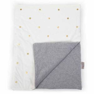 CHILDHOME 424546 Blanket Jersey Gold Dots 80x100 cm