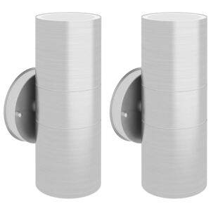 VidaXL Outdoor Wall Lights 2 pcs Stainless Steel Up/Downwards