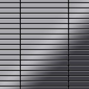 Alloy Linear-s-s-mm Metal Mosaic Stainless Steel Grey